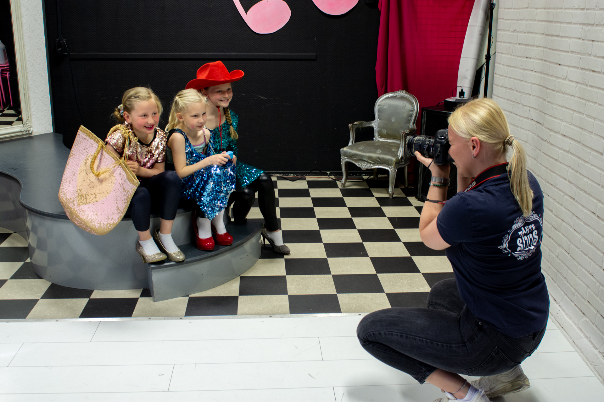 Glamour foto kinderfeestje Tante Suus